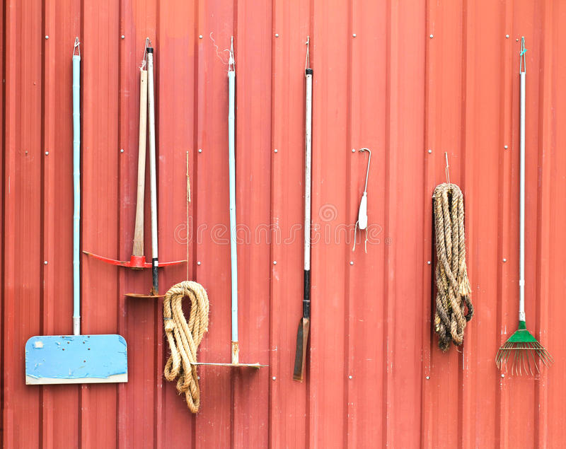 Bauernhofwerkzeuge lizenzfreie stockbilder