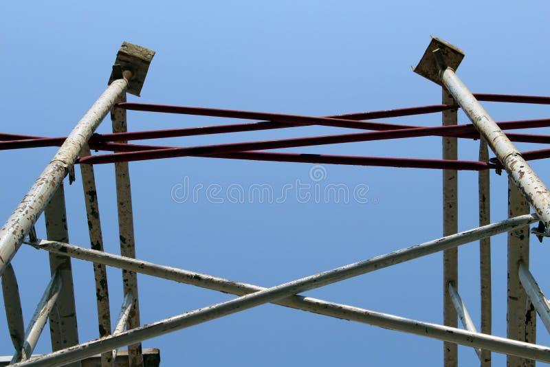Baugerüst in der Baustelle stockfotografie