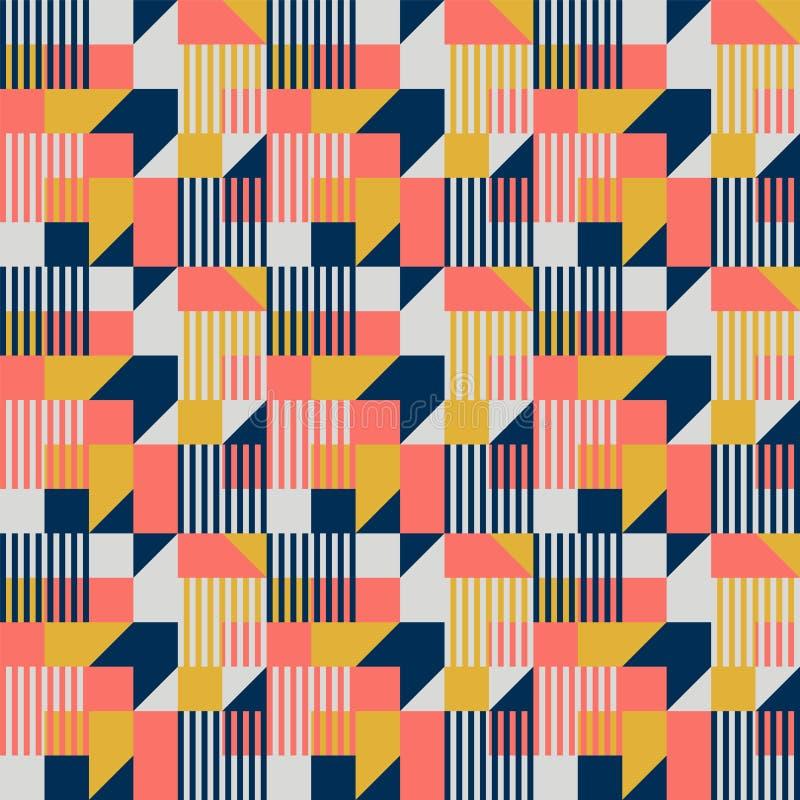 Bauhaus style geometric seamless pattern royalty free stock photography