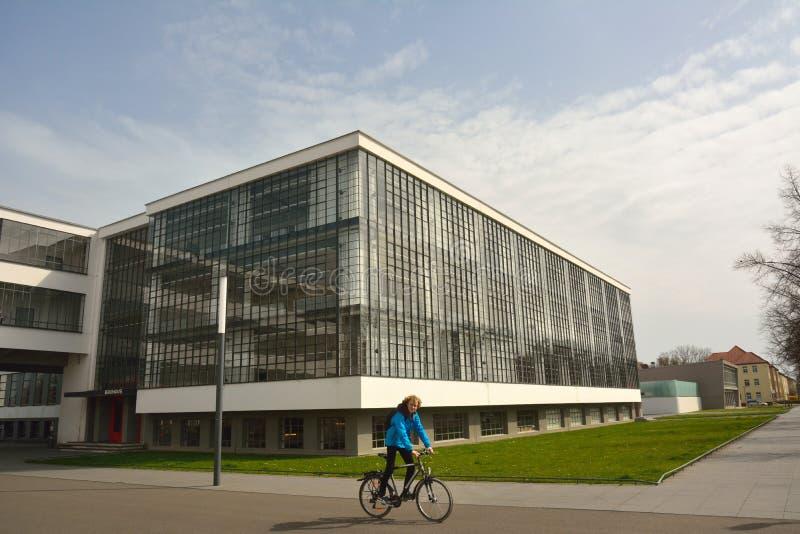 Bauhausgebaude-Gebäude in Dessau-Rosslau lizenzfreies stockfoto