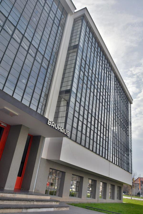 Bauhausgebaude-Gebäude in Dessau-Rosslau stockfotografie