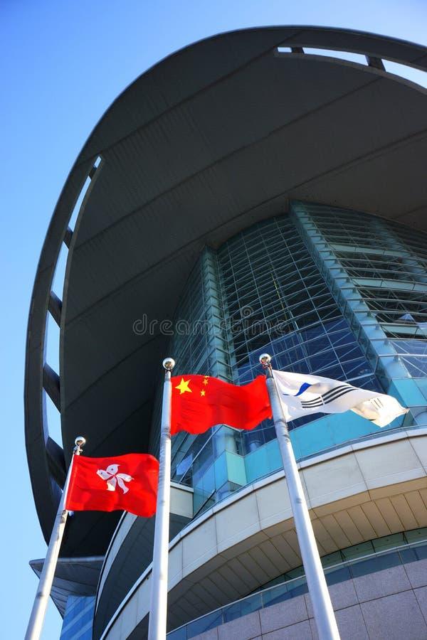 Quadrado do Bauhinia de Hong Kong fotografia de stock
