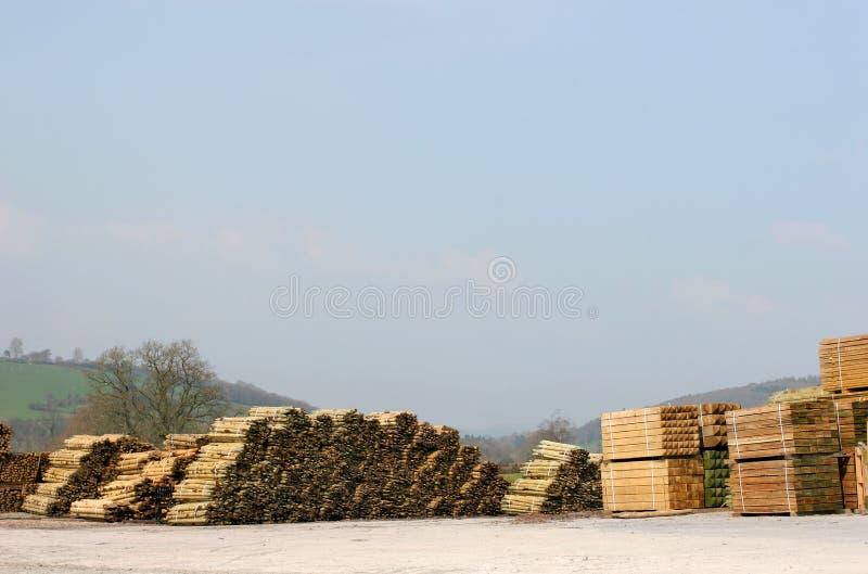 Bauholz-Yard lizenzfreies stockbild