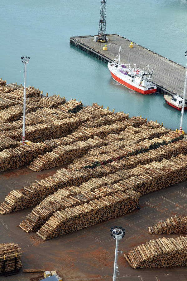 Bauholzexporte stockfoto