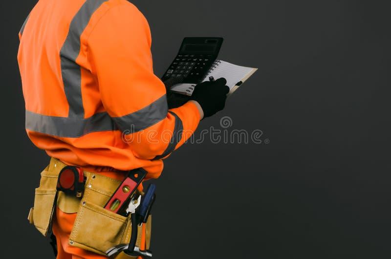 Baukostenberechnung lizenzfreies stockbild