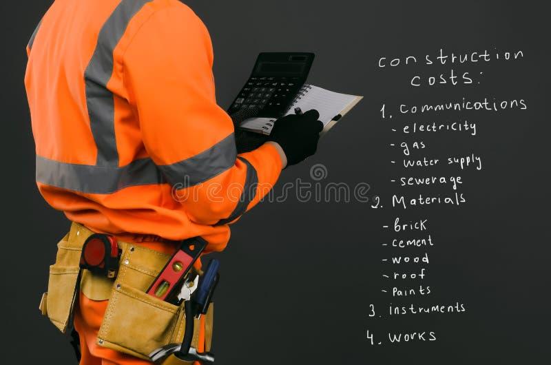 Baukostenberechnung lizenzfreie stockfotos