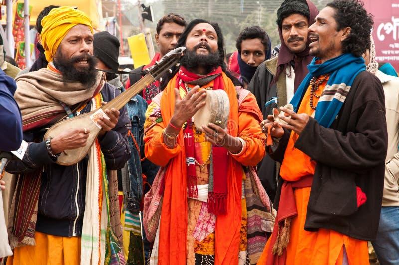 Baul występ w Poush Mela zdjęcia royalty free