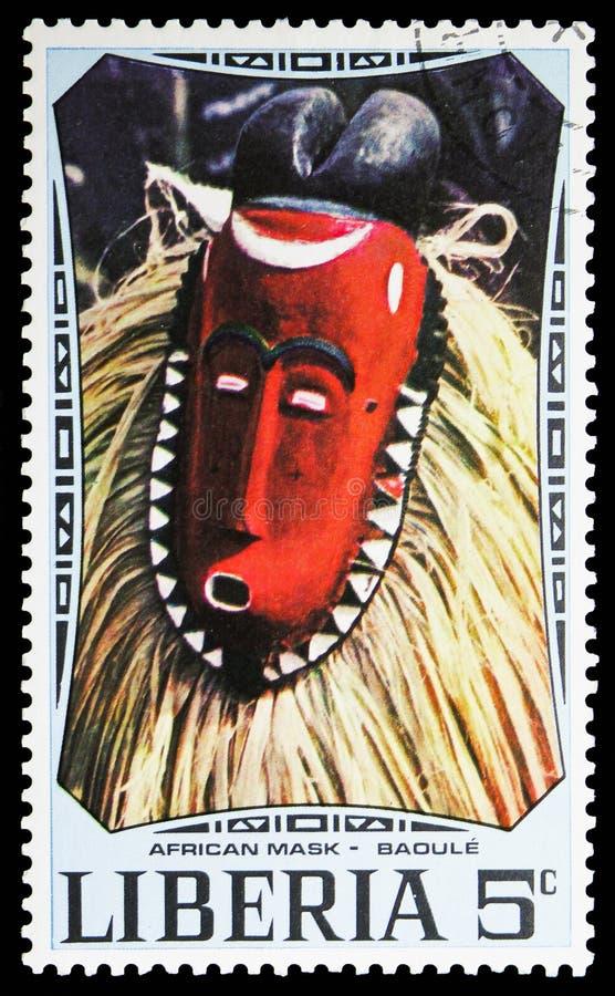 Baule, serie africano delle maschere, circa 1971 fotografia stock
