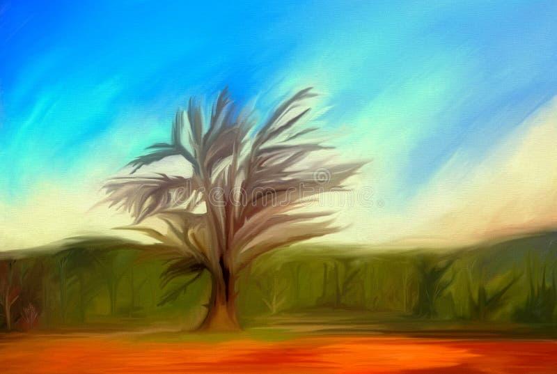 BaumÖlfarbe vektor abbildung