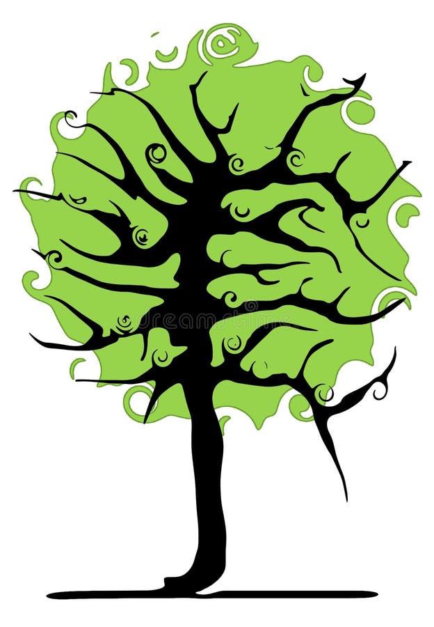 Download Baum stock abbildung. Illustration von schattenbild, wachsen - 855622