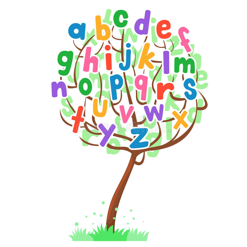 Baum-Alphabet-Satz lizenzfreie abbildung