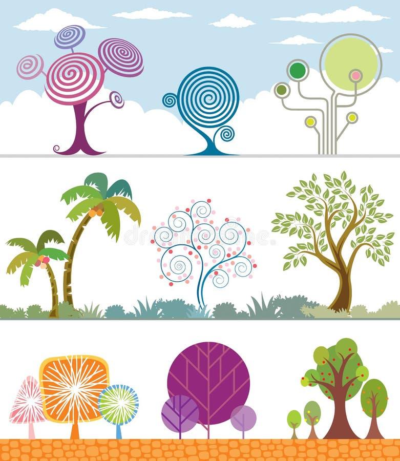 Baum-Ansammlung stock abbildung