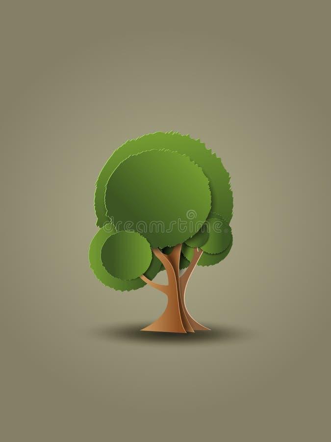 Baum Auch im corel abgehobenen Betrag stock abbildung