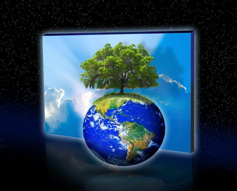 Baum auf Erde lizenzfreies stockfoto
