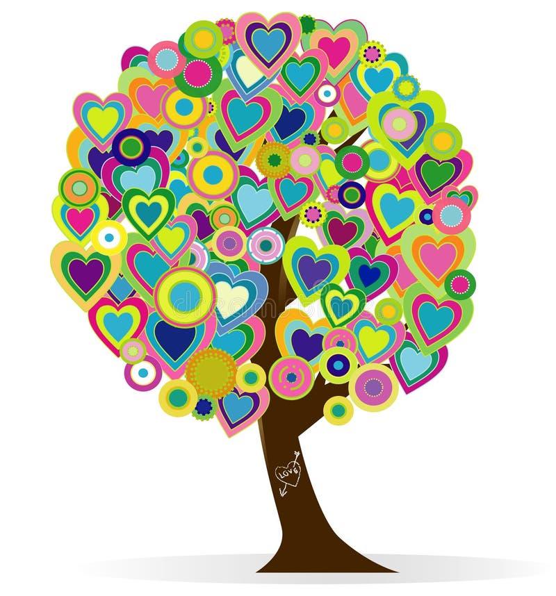 Baum der Liebe stock abbildung