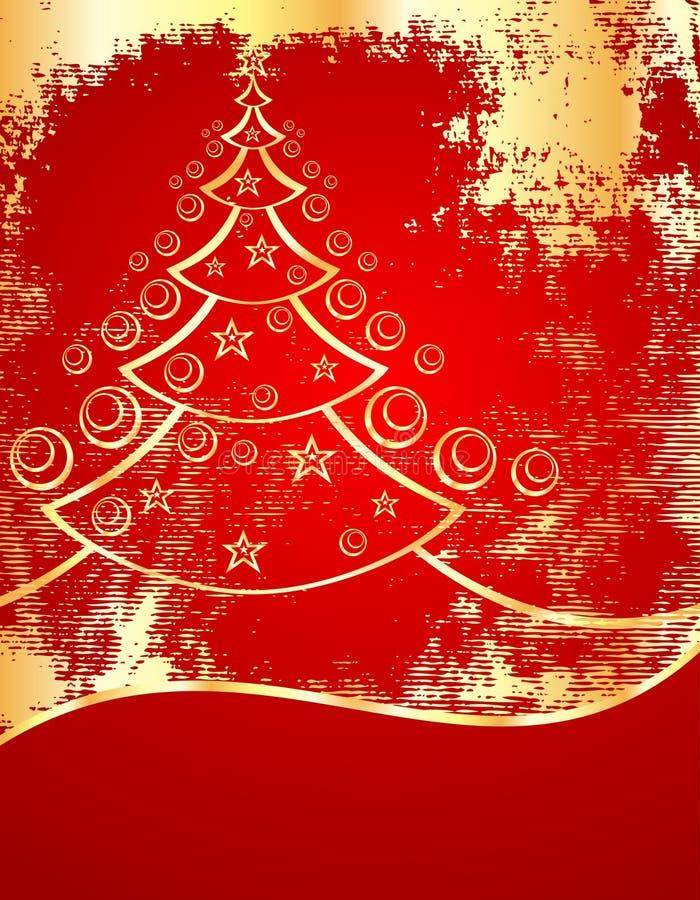 Baum des Goldneuen Jahres stock abbildung