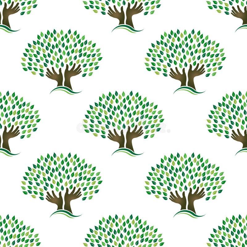 Baum des Hoffnungsmusters nahtlos stock abbildung