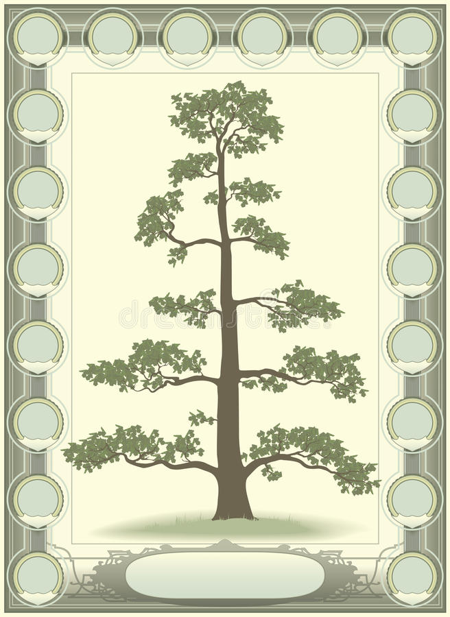 Baum des Lebens - Genealogie lizenzfreie abbildung
