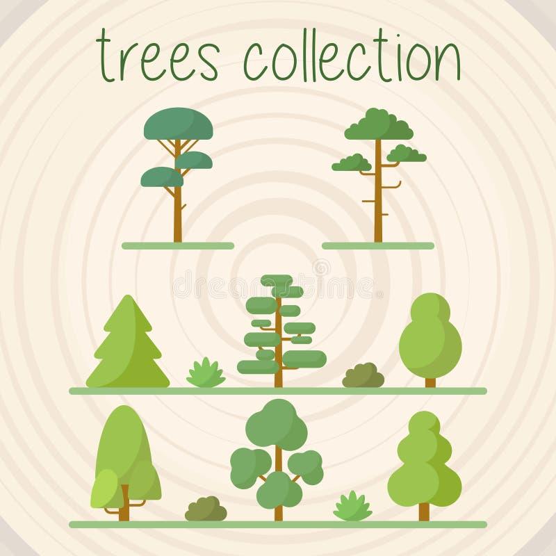 Baum-Farbvektor-Auswahl lizenzfreie abbildung