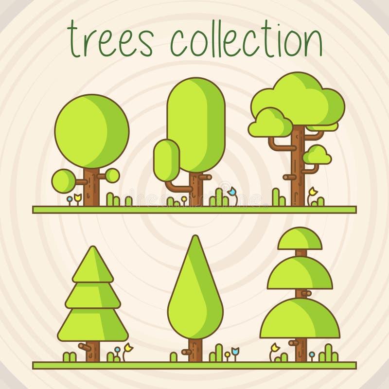 Baum-Farbvektor-Auswahl stock abbildung