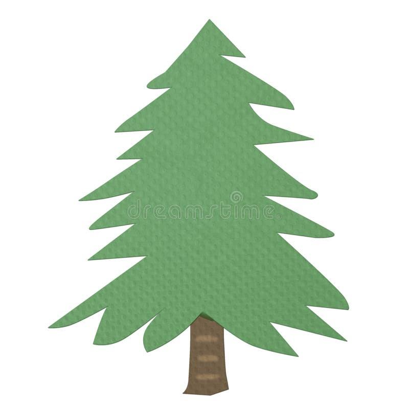 Baum gemacht von Gewebe papercraft stock abbildung