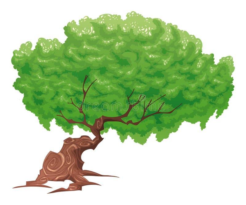 Baum, getrennte Nachricht. vektor abbildung