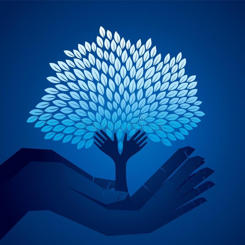 Download Baum An Hand In Der Dunklen Nacht Stockbild - Bild von frech, ideen: 27725003
