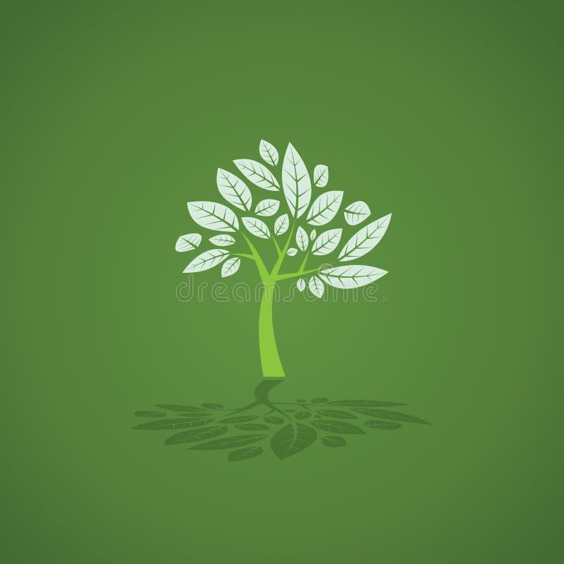 Baum hergestellt vom Kabel und von den Blättern vektor abbildung