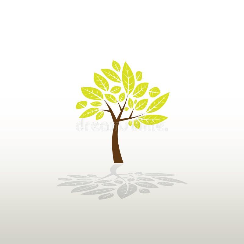 Baum hergestellt vom Kabel und von den Blättern lizenzfreie abbildung