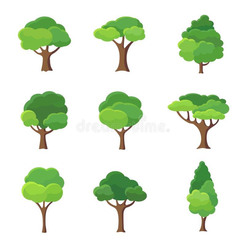 Baum-Ikonen-Sammlung lizenzfreie abbildung