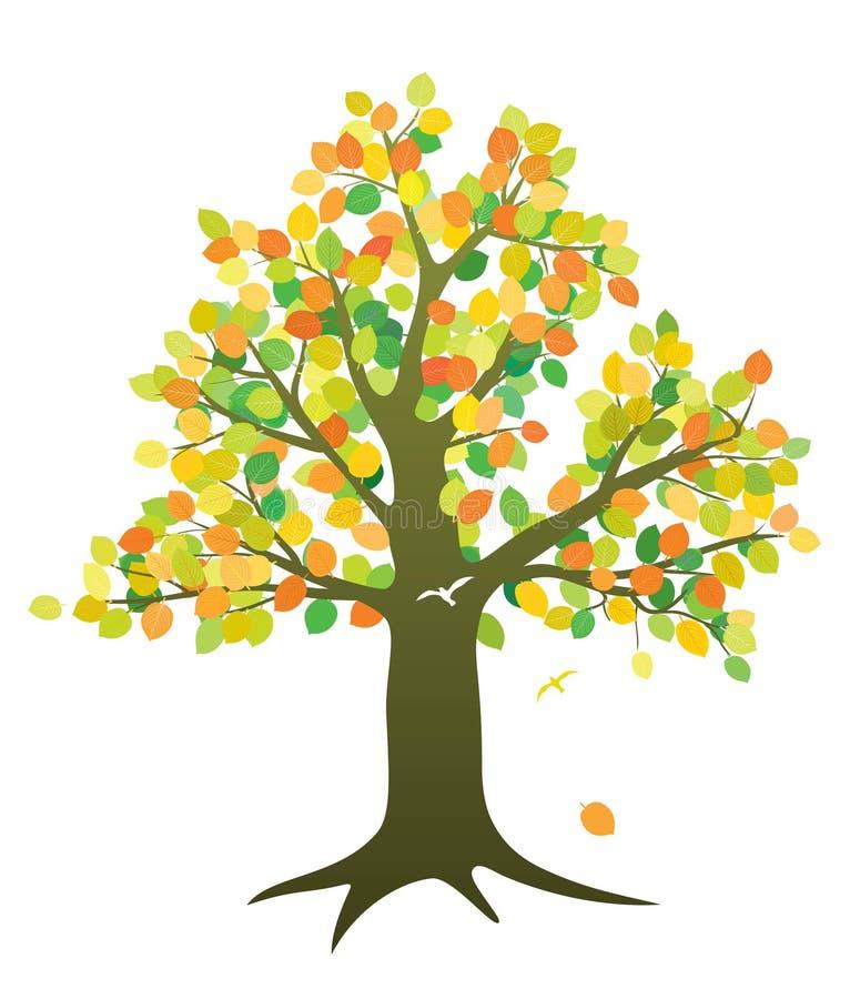 Baum im Fall lizenzfreie abbildung