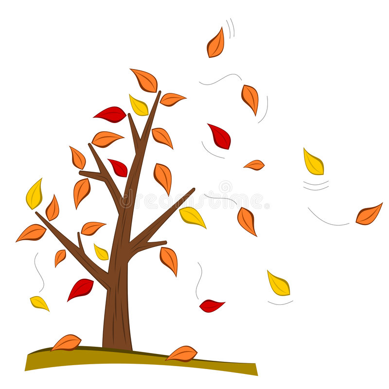 Baum im Fall vektor abbildung