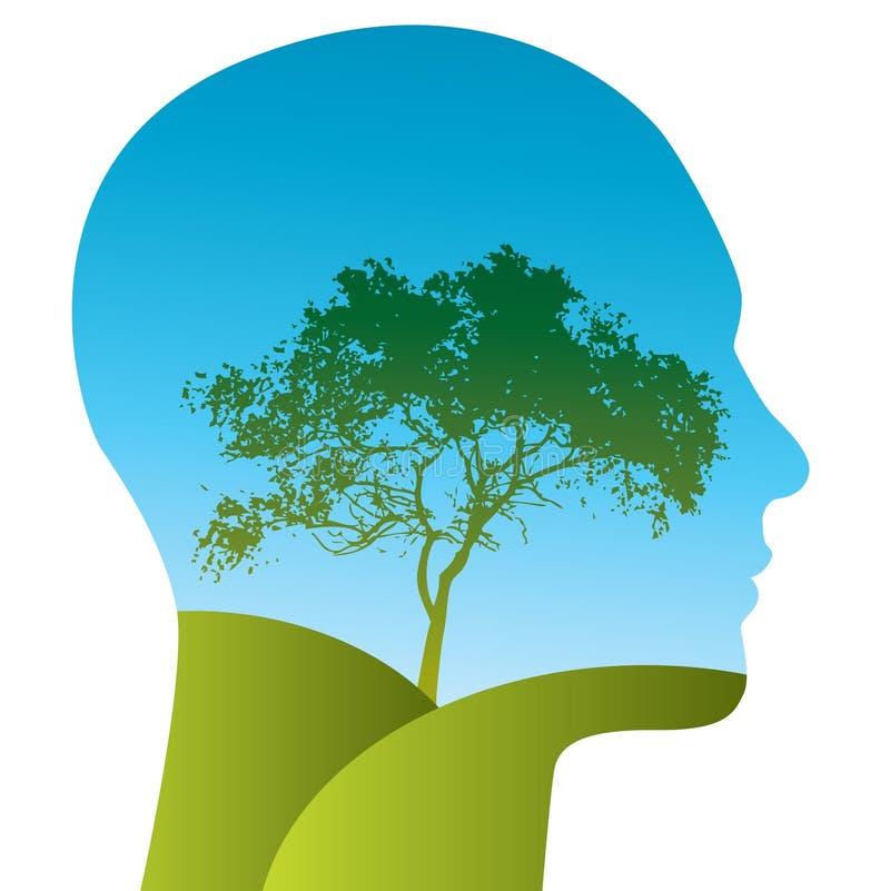 Baum im Kopf stock abbildung