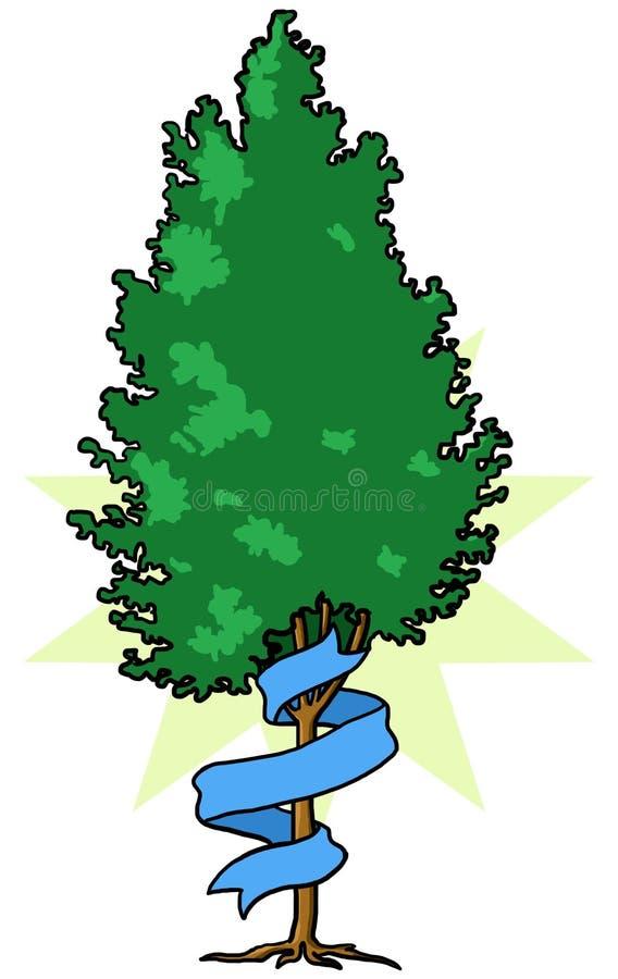 Baum mit Band lizenzfreie stockfotografie
