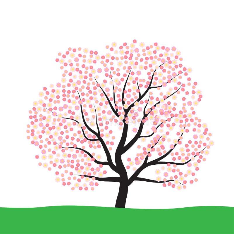 Baum mit Blüte stock abbildung