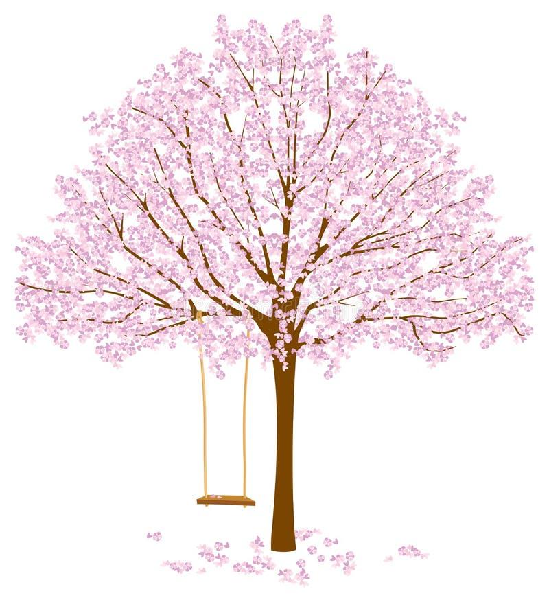 Baum mit Blüten vektor abbildung