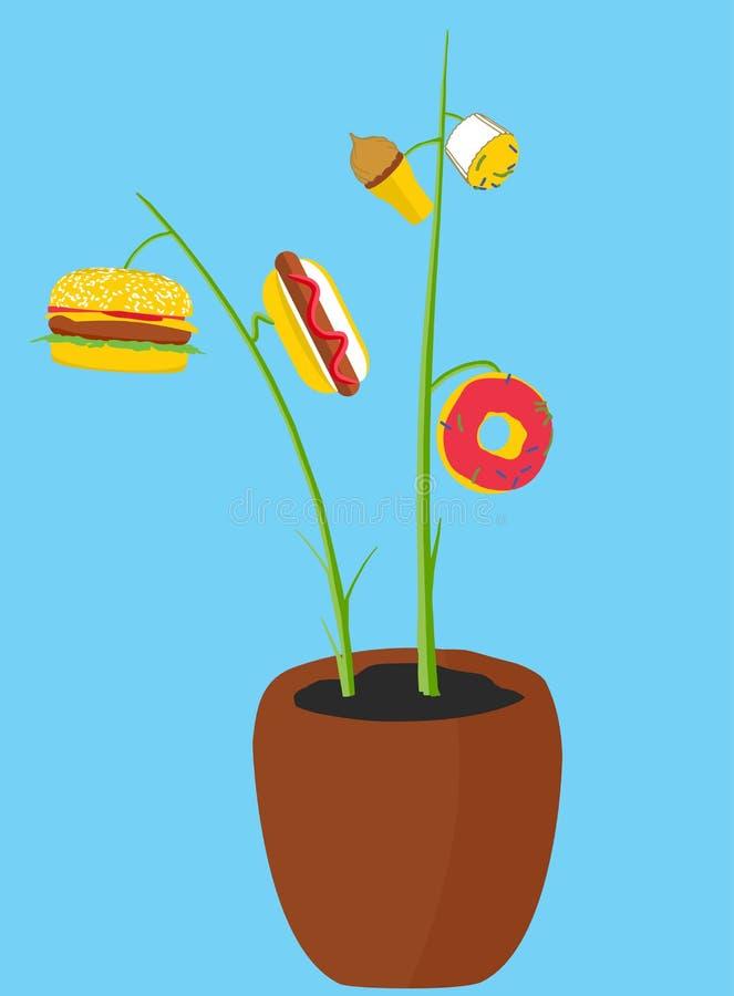 Baum mit Lebensmittel lizenzfreies stockfoto