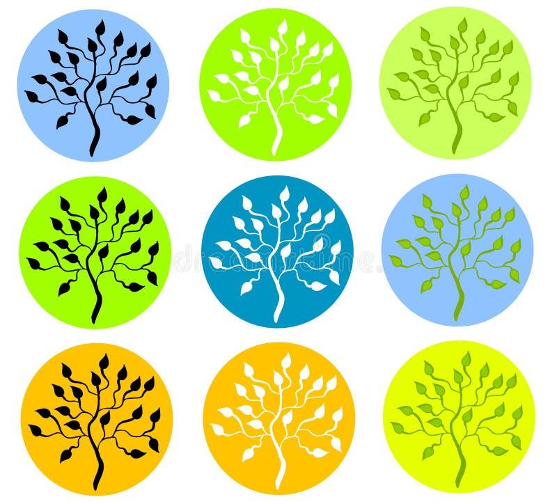 Download Baum-Schattenbilder stock abbildung. Illustration von schattenbilder - 20753875