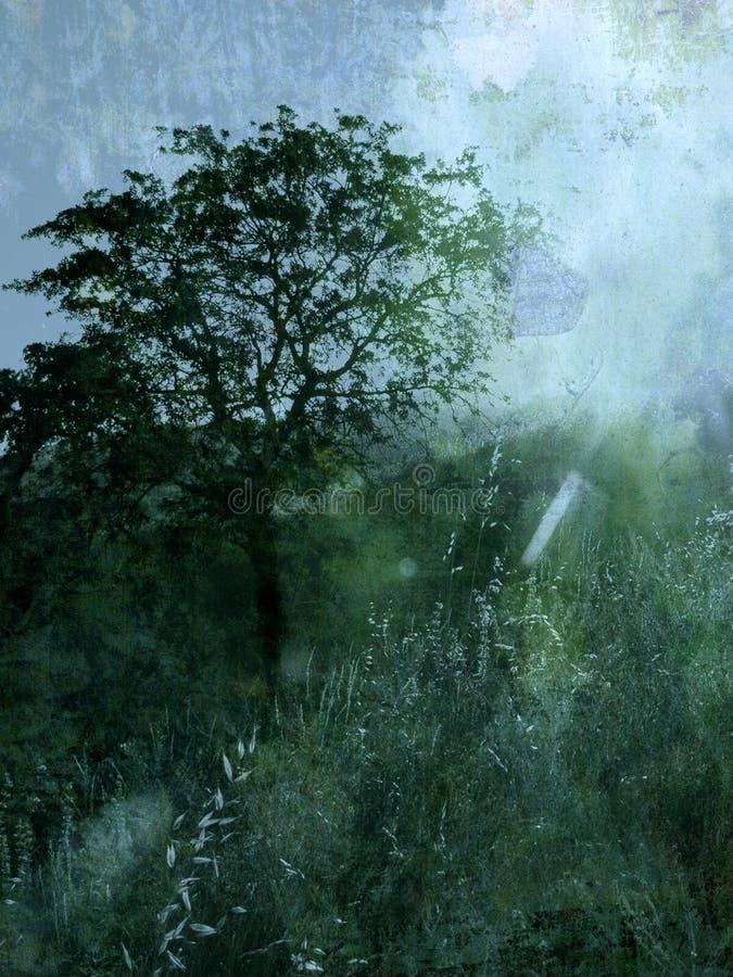 Baum und Leuchte   lizenzfreie abbildung