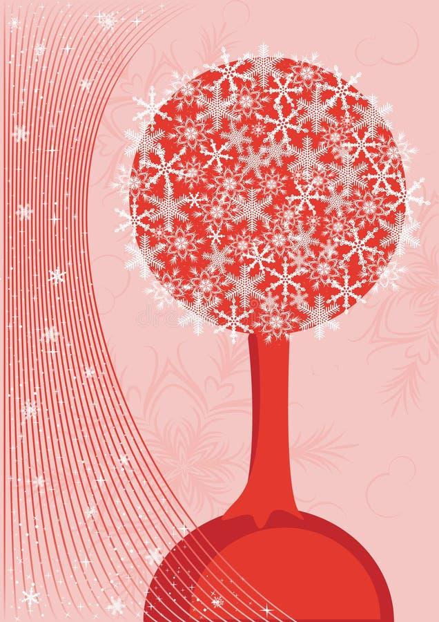 Baum von den Schneeflocken vektor abbildung