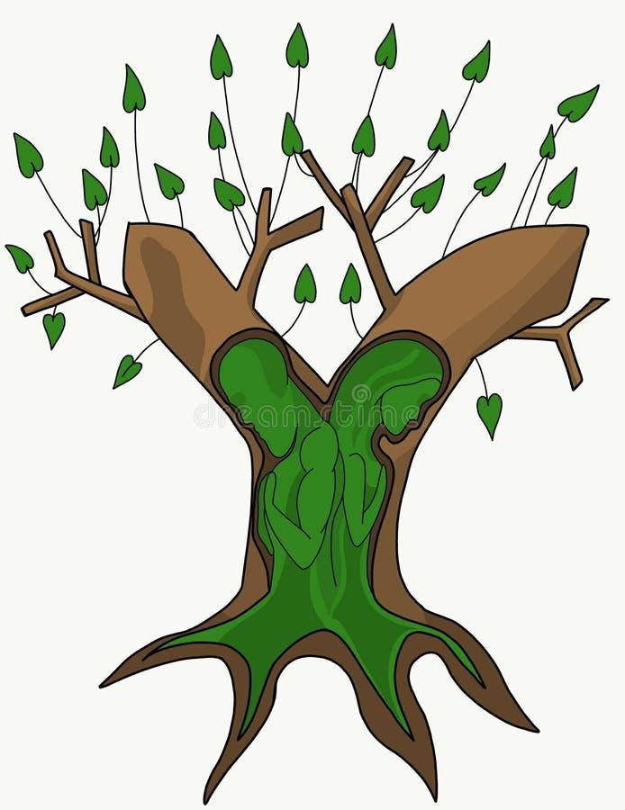 Baum von Leben zwei lizenzfreie abbildung