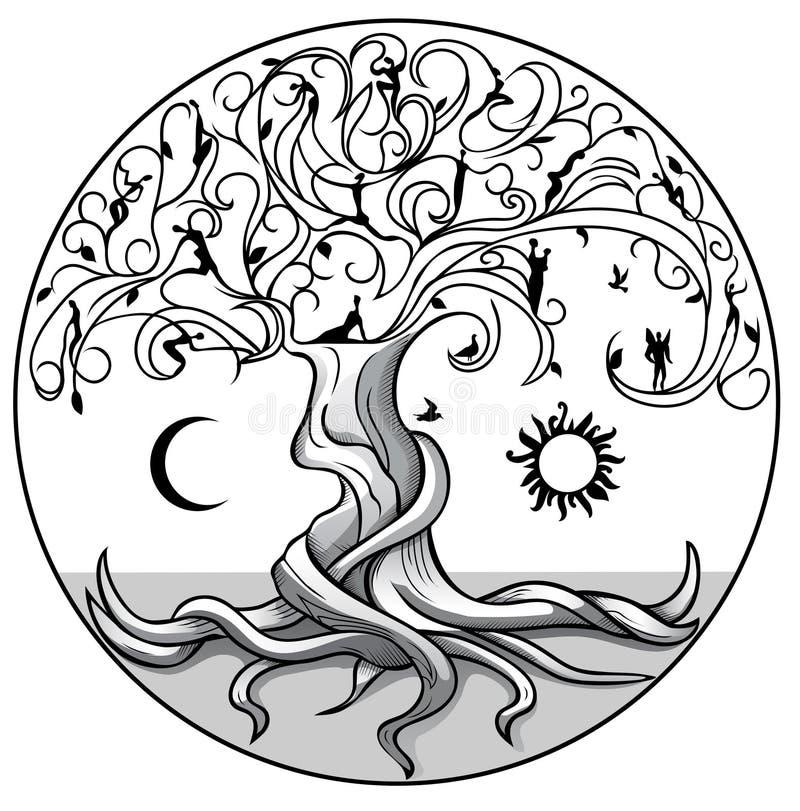 Baum von life2 stock abbildung