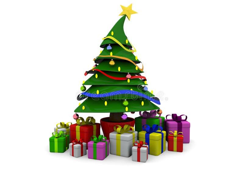 Baum Weihnachten3d vektor abbildung