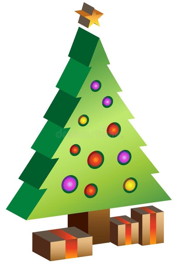 Baum Weihnachten3d lizenzfreie abbildung