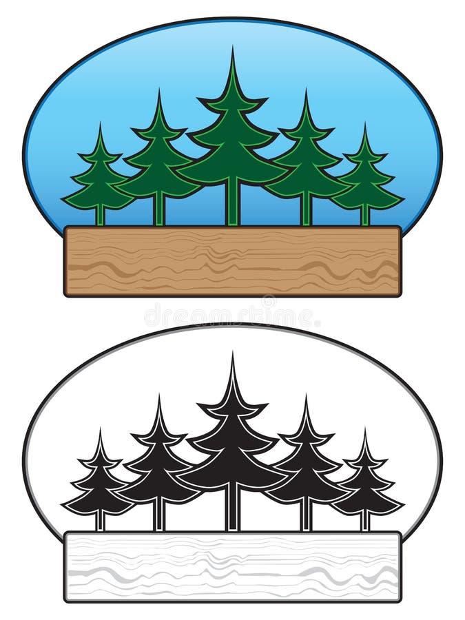 Baum-Zeichen lizenzfreie abbildung