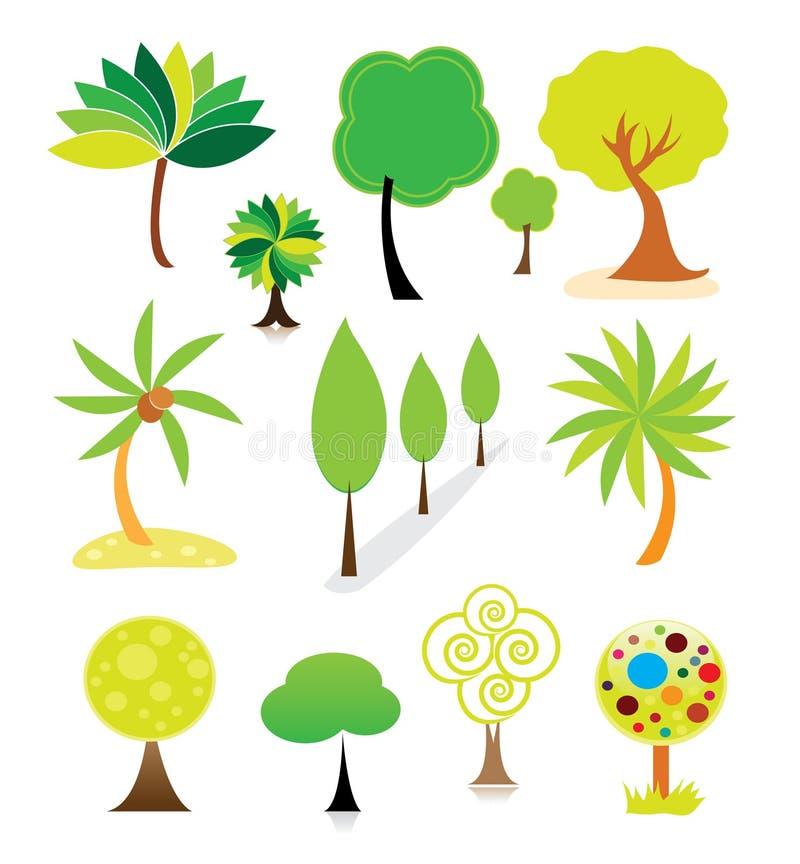 Baumansammlung lizenzfreie abbildung