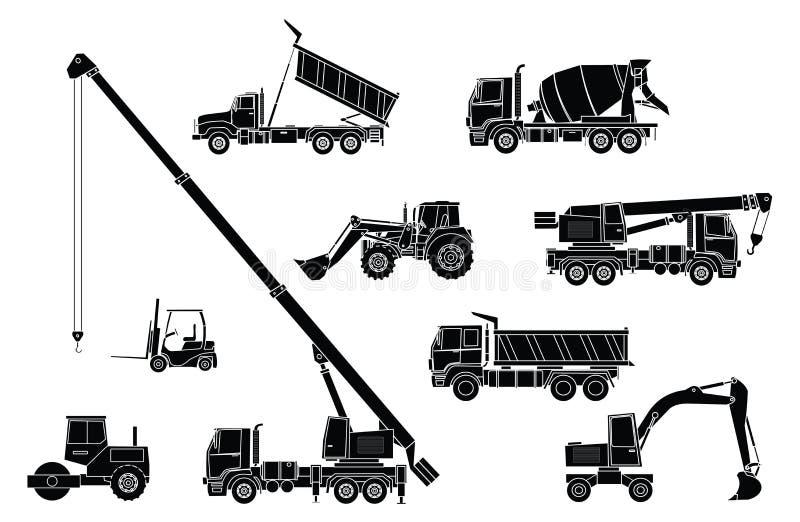 Baumaschinen stock abbildung
