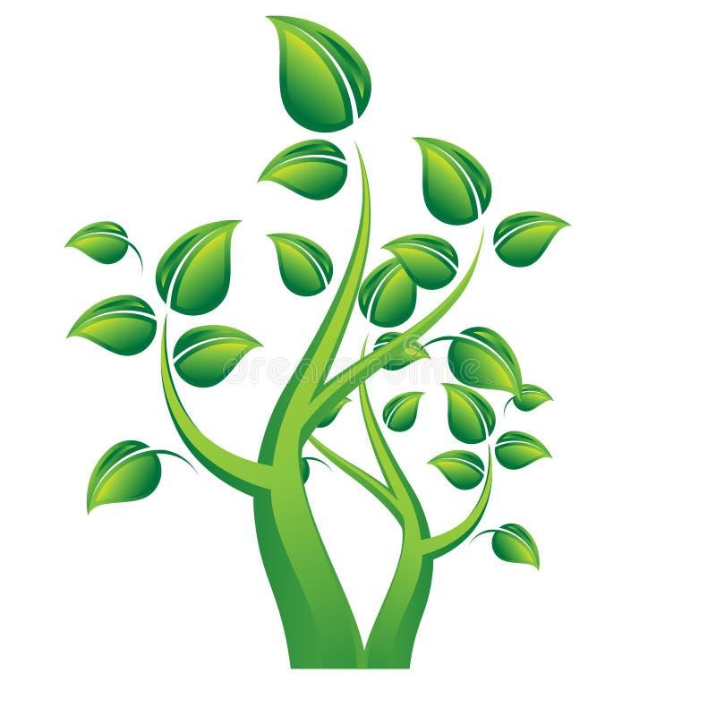 Baumbildlogo Konzept für eco Umwelt stock abbildung