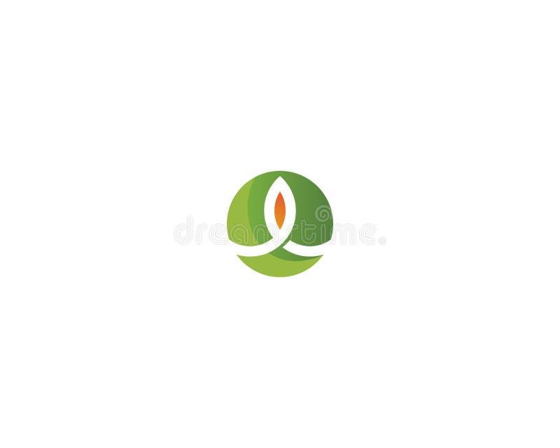 Baumblattvektor-Logodesign, umweltfreundliches Konzept stock abbildung
