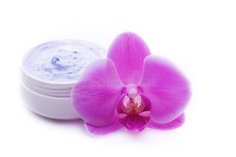 baume de bien-être avec l'orchidée rose image libre de droits